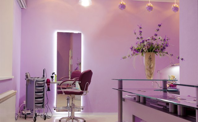 interior of luxury hair salon