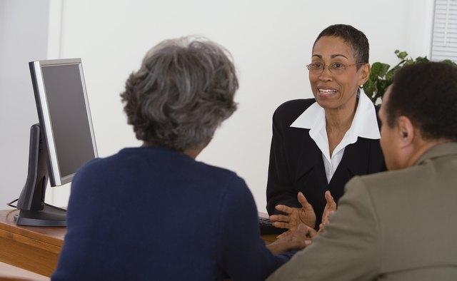 Smiling businesswoman at consultation