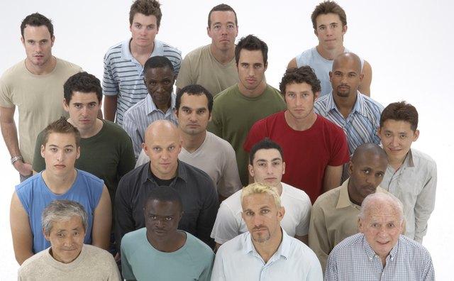 Diverse group of men