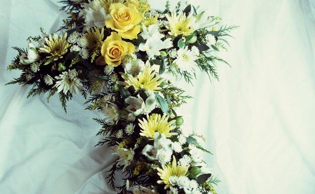 Cross shaped bouquet
