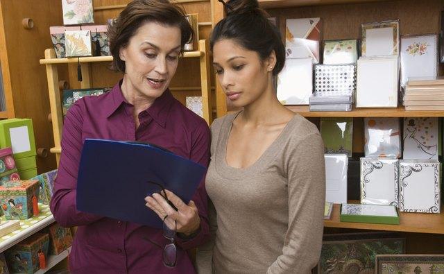 Women working in store