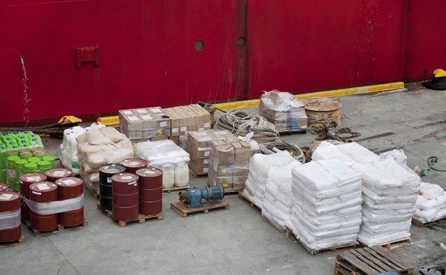 Cargo in harbor