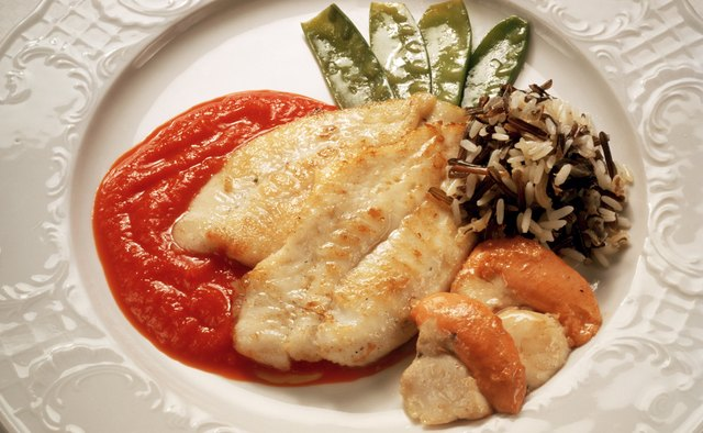 Fish Fillet with Wild Rice and Paprika Sauce