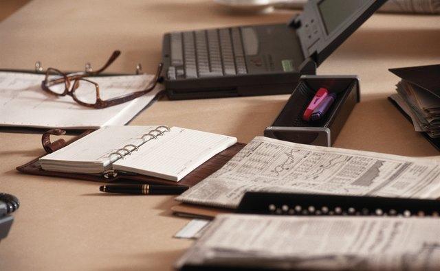 Office desk, close-up