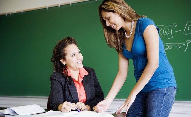 Teacher teaching student