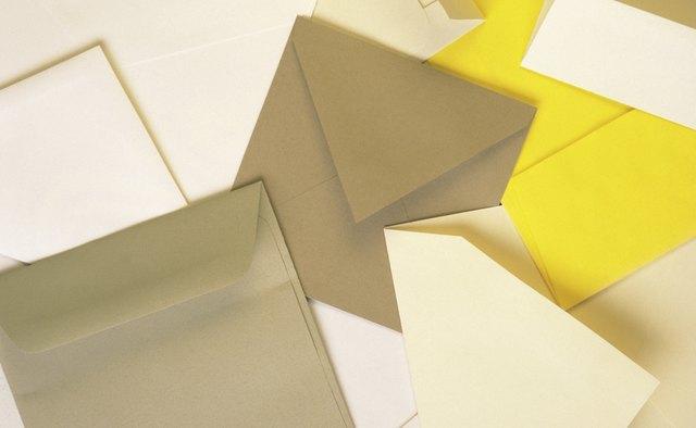 Assorted blank envelopes