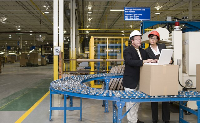 Two managers in a factory
