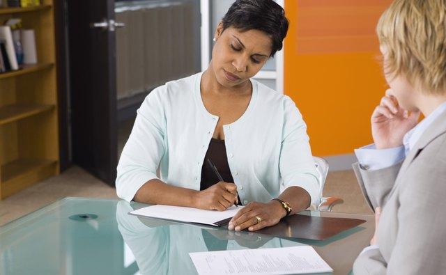 Businesswomen in job interview