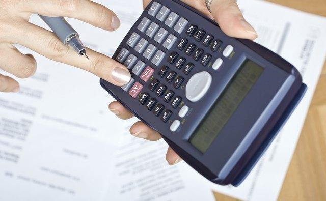 Typing on calculator