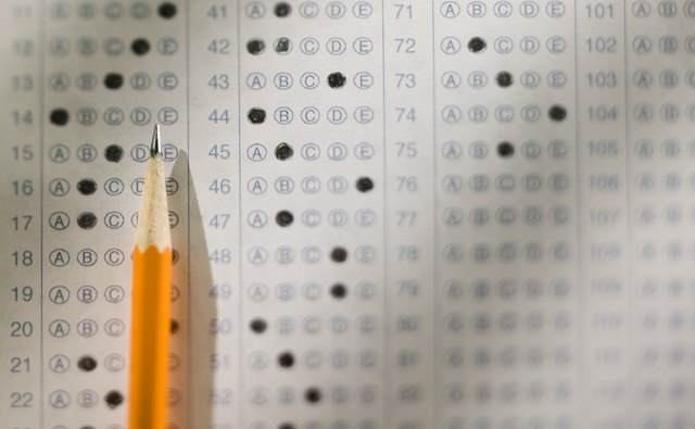 Standardized test and pencil