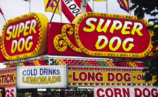 Amusement Park Food Signs