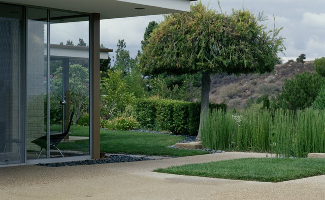 A contemporary home offers a smooth flow from the interior to the exterior of the home.