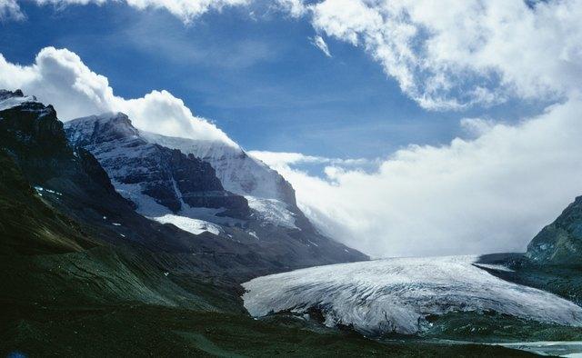 Glacier and mountains in British Columbia, Canada