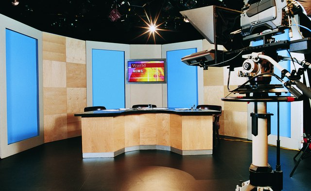 TV Studio and a TV Camera