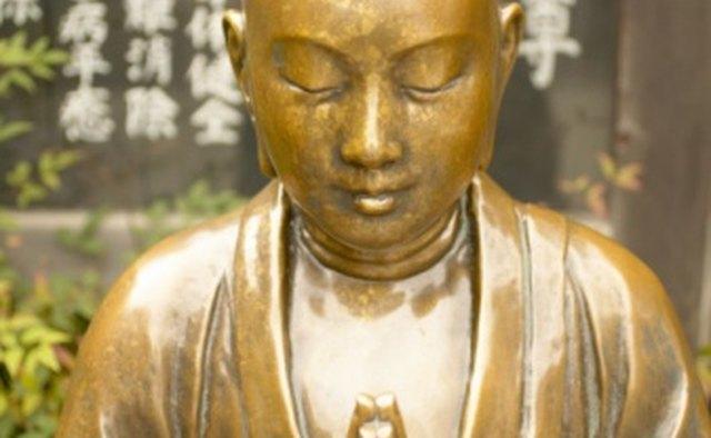 Brass statue of the Buddha.