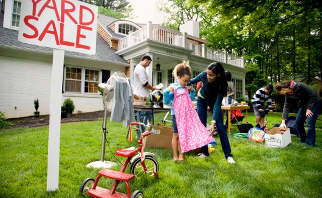Have a yard sale online to launch your new direct selling business.