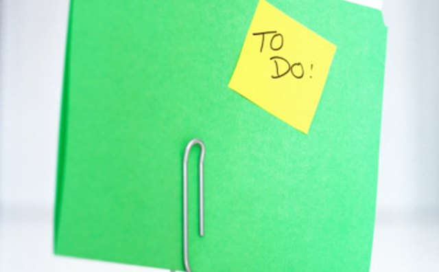 Writing down daily or weekly tasks helps make accomplishing them easier.