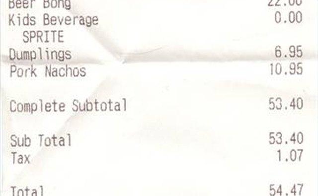 definition of receipt bizfluent