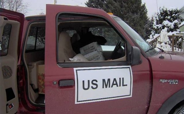 Your mail carrier can pick up properly prepared packages at no extra charge.