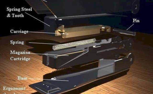 Stapler Exploded View. Picture by Zachary MacChesney