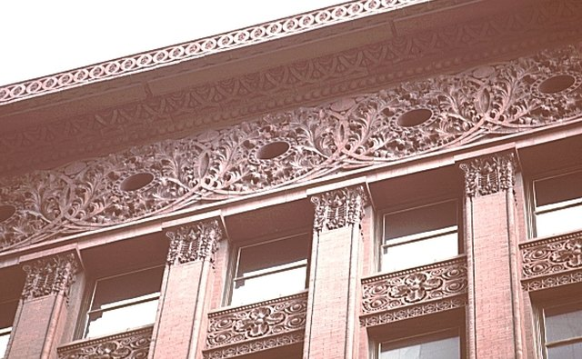 Beaux-Arts touches top the Early Modern Wainwright Building in St. Louis.