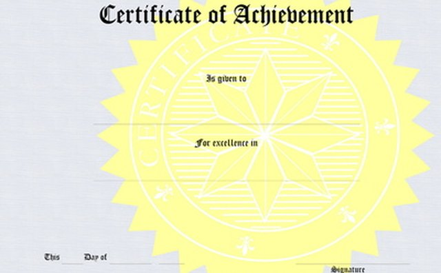 Each level of certification adds to a person's qualifications.