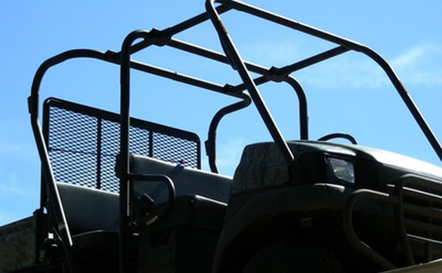 Roll cages are made of welded steel tubing.