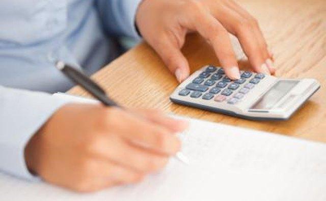 man calculating