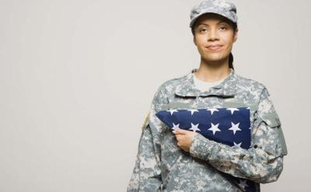 Women in the military have the same rights to benefits as men.