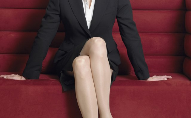 Businesswoman Sitting on a Sofa