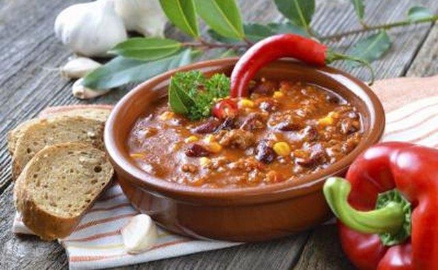 Bowl chili con carne.
