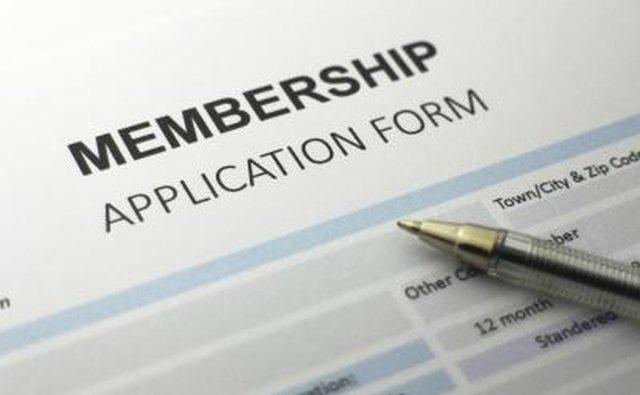 Membership application form.