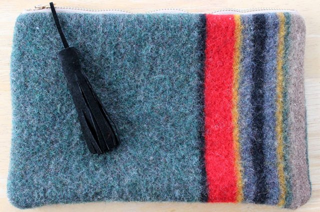 Upcycled Pendleton Wool Clutch
