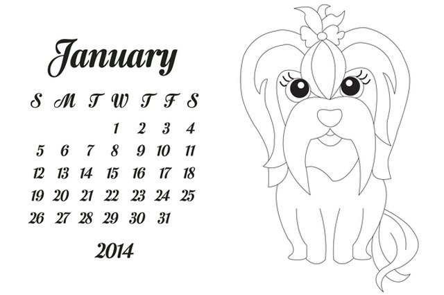 Printable 2014 Calendar for Dog Lovers