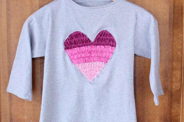 Upcycled Ruffled Heart Shirt