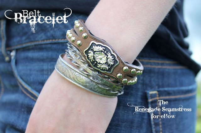Get Rodeo-Ready with a DIY Upcycled Western-Inspired Belt Bracelet