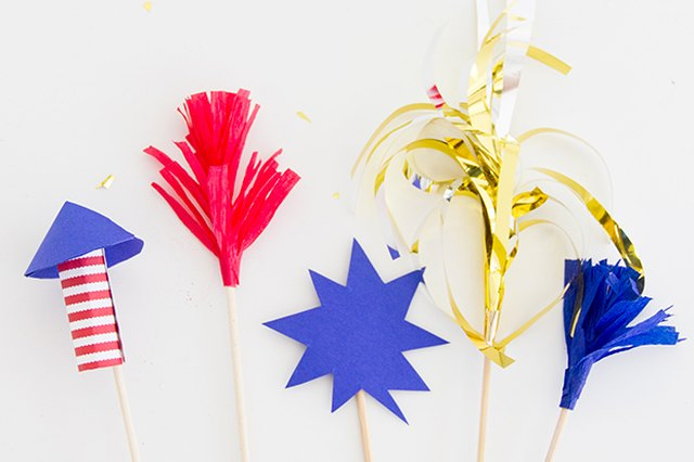 Spark Your July Fourth Cocktails with Firework Drink Stirrers