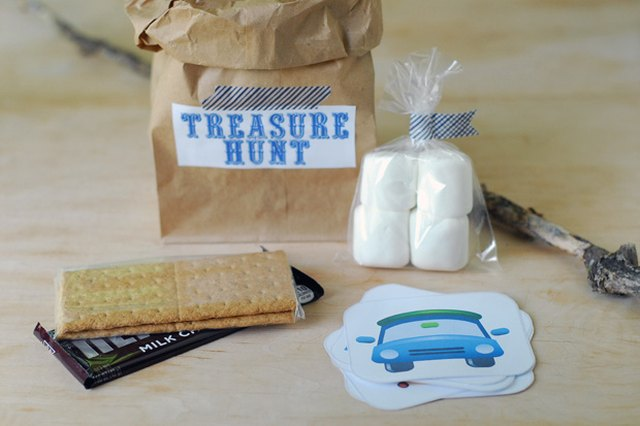 Host a S'mores Treasure Hunt for Kids (with Printables!)
