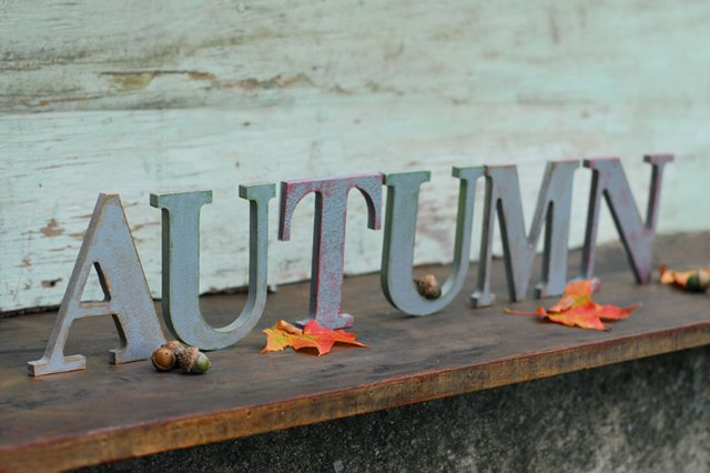 DIY Faux Metal Letters for an Autumn-Inspired Mantle
