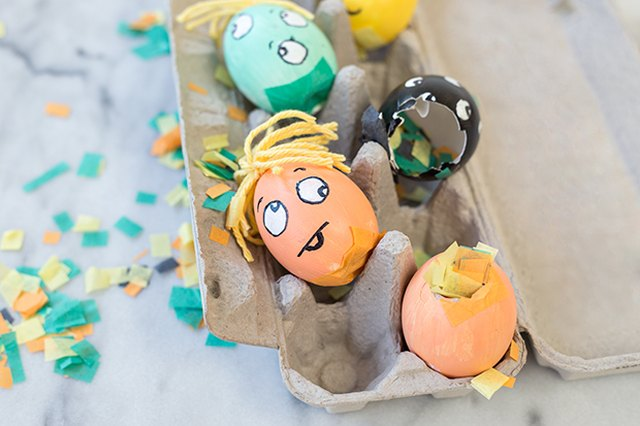 DIY Halloween Monster Confetti Eggs