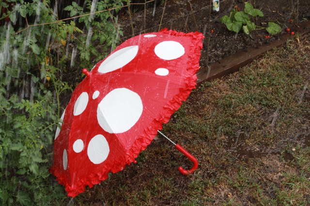 Willy Wonka-Inspired Mushroom Umbrella
