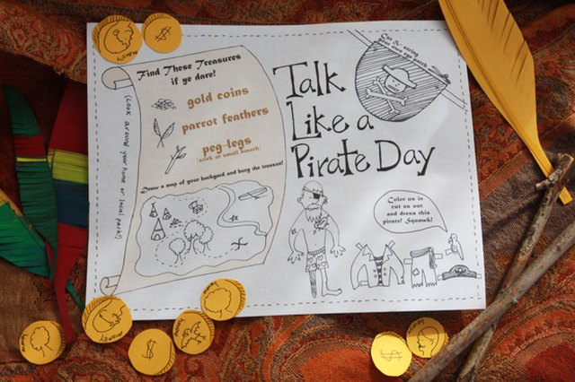 Talk Like a Pirate Day Printable Activity Sheet