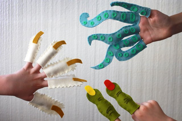 Monster Finger Puppets for Kids