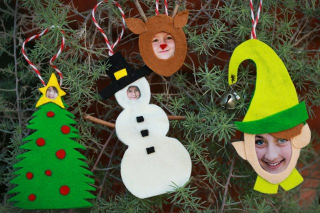 JibJab-Inspired Felt Photo Ornaments