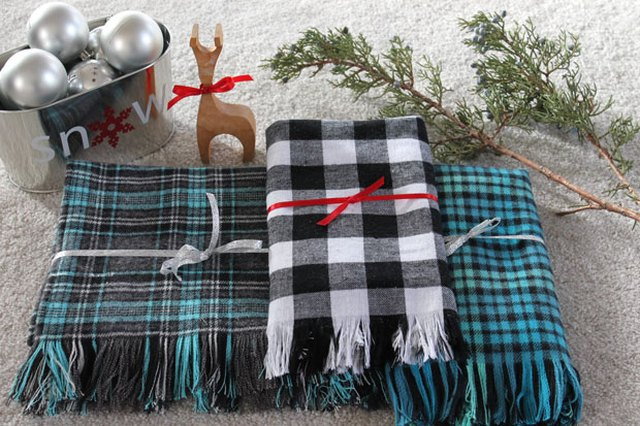 Make a Handmade Plaid Flannel and Fringe Scarf