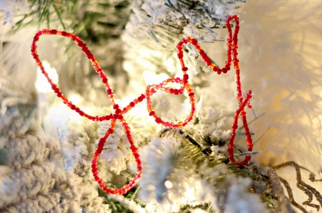 DIY Beaded Wire Word Ornaments