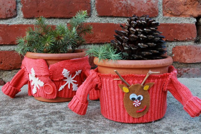 Ugly Christmas Sweater Plant Cozies