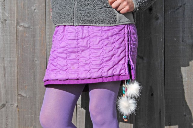 Make a Snow Skirt From an Old Jacket