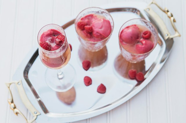 Mother's Day Raspberry Sorbetto Mimosas for Mom and Mini Mocktails for the Kids