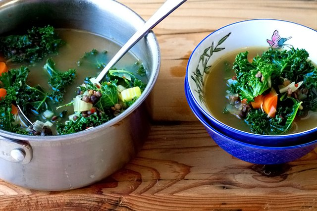 French Lentil and Kale Soup